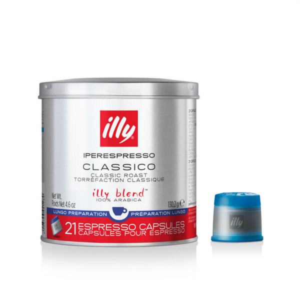 illy iperEspresso Capsules - Medium Roast Lungo (with capsule)
