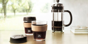 illy KeepCup Travel Mug - Glass 12oz with French Press
