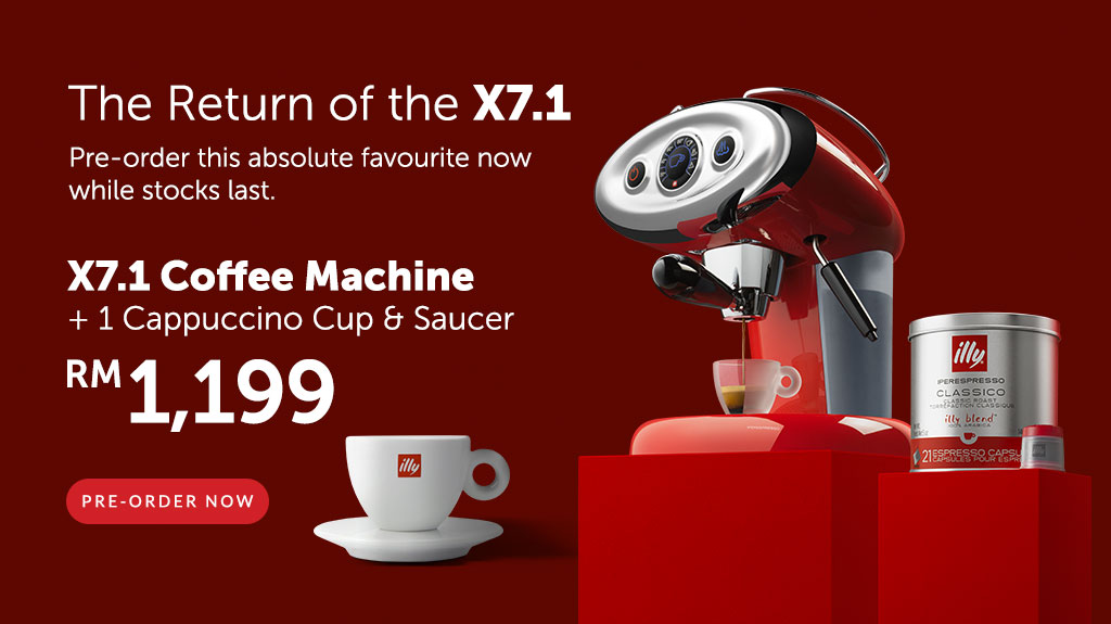X7.1 Cappuccino Bundle Simply illy Hero Mobile