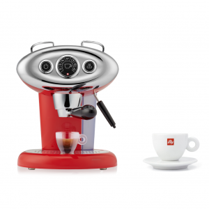 BUNDLE Cappuccino Cup: illy X7.1 iperEspresso Machine Red