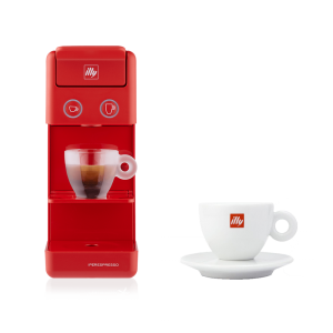 BUNDLE Cappuccino Cup: illy Y3.2 iperEspresso Machine Red