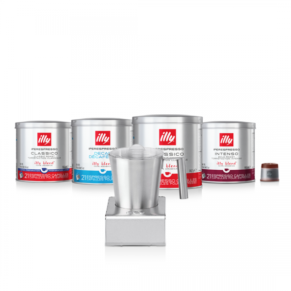 illy Malaysia Milk Frother Bundle with 4 cans Capsules