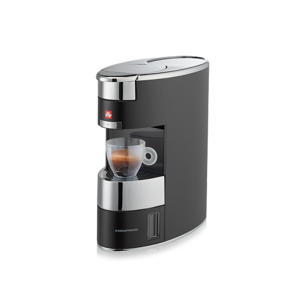 illy Malaysia X9 Coffee Machine for Home Silver & Black - Capsule Coffee Italian Design Side view
