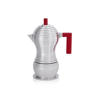 illy Malaysia official Alessi Pulcina Red Moka Pot - 3 cup