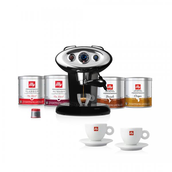 illy Malaysia Luxury Discovery Bundle X7.1 Coffee Machine Black