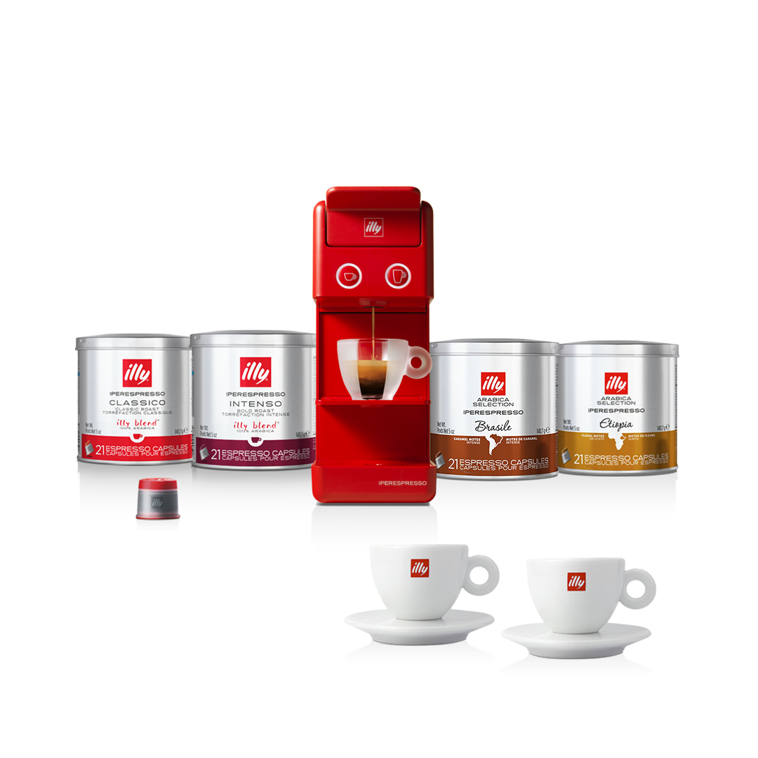 illy Malaysia Discovery Bundle Y3.3 Coffee Machine Red