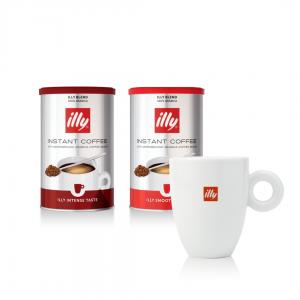 illy Malaysia Instant Coffee Gift set with illy Logo Mug