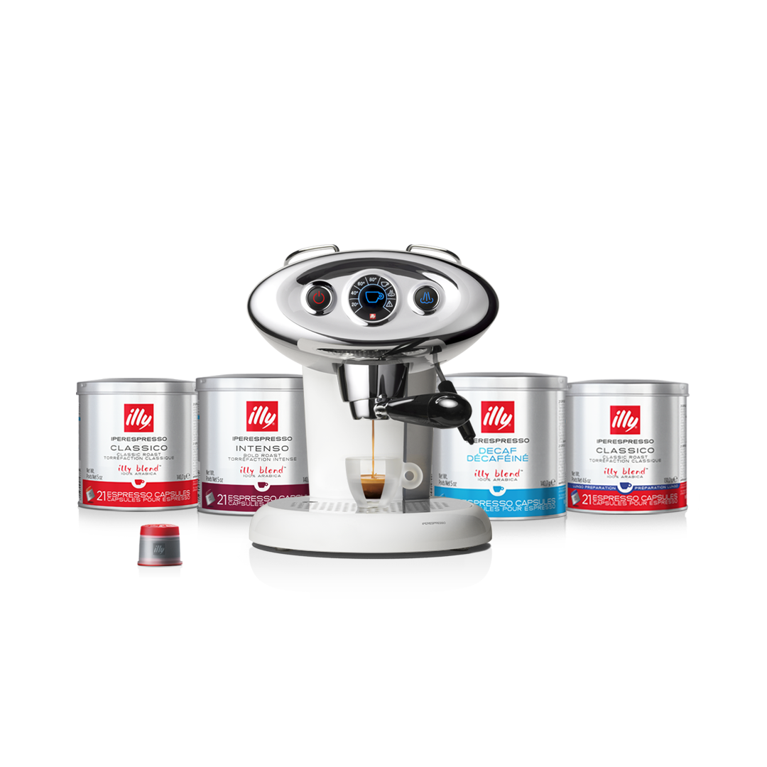 illy Malaysia White X7.1 Coffee Machine Bundle Offer 9.9 - includes 4 packs of capsules