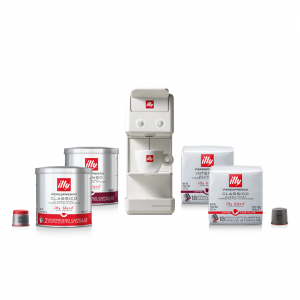 illy Malaysia White Y3.3 Coffee Machine Bundle Offer 9.9 - includes 4 packs of capsules