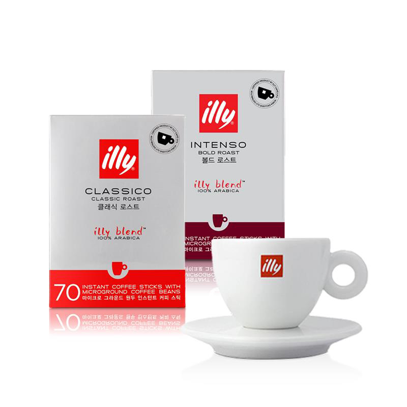 Large Instant Coffee Sticks Cappuccino Cup Bundle illy Malaysia