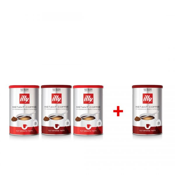 illy Malaysia Instant Coffee Cans -95g 3+1 Bundle offer